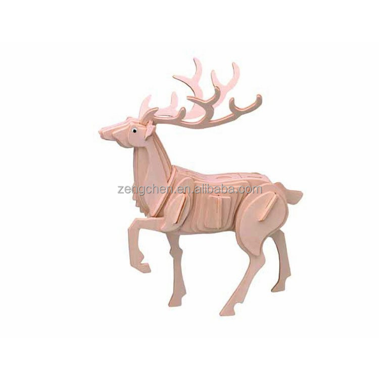 Made in china deer jigsaw puzzle wall paneling puzzle <strong>game</strong> for adults