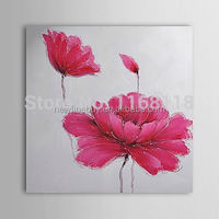 modern floral wall art hand painted Canvas red flower Painting canvas picture