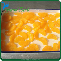 light syrup canned mandarin orange in sac