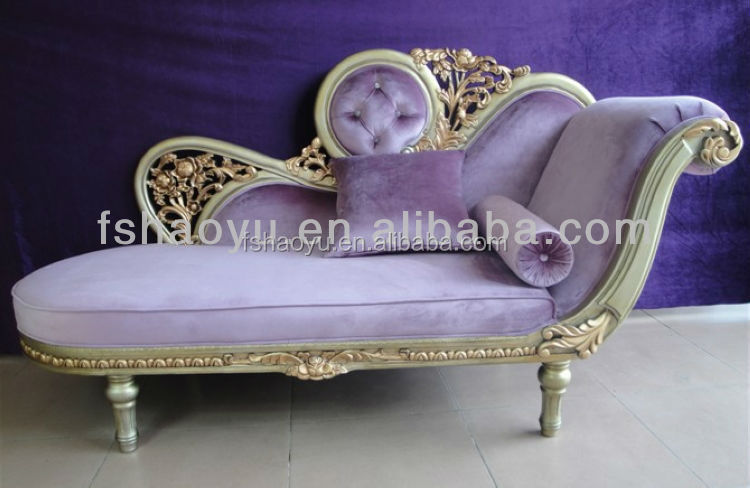 european style fabric royal chair/ antique chaise lounge/luxury chaise lounge