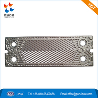 Acid, alkali, high temperature plate for plate heat exchanger, THERMOWAVE replacement TL90SS