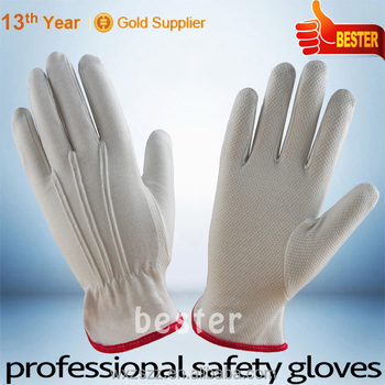 High quality slip proof polka dot cotton glove With Great Low Price