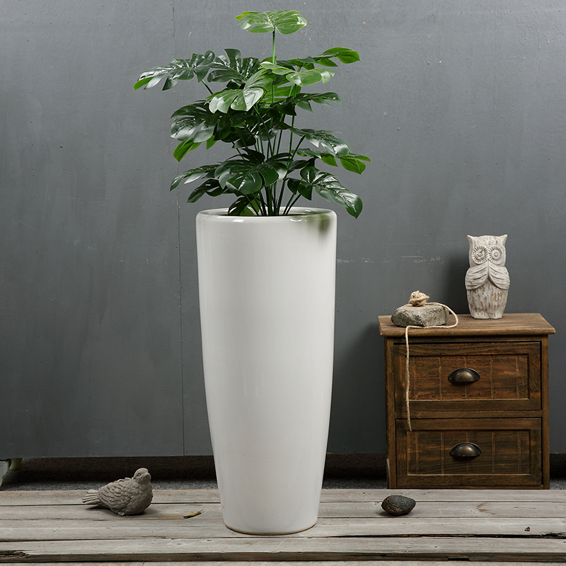ceramic decorative garden stone flower pot wholesale