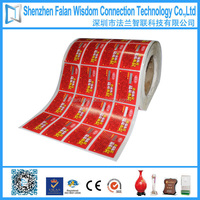 2014 best sale Custom High quality factory-directed scratch off label Sticker printing manufacturer