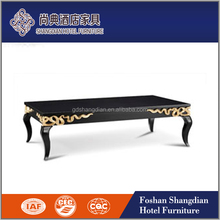 Luxury antique gold leaf wooden center table/coffee table designs