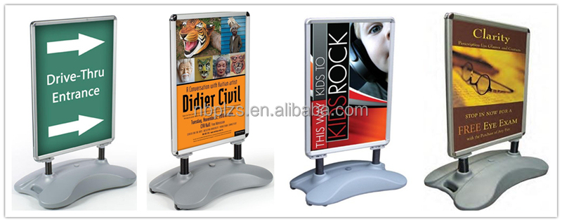 Windmaster A0 double side poster stand with water base swing sign advertising poster pavement sign