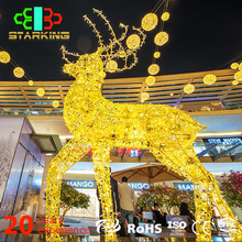 Outdoor decorations Popular Christmas Motif Light For Deer Carriage And Santa Claus