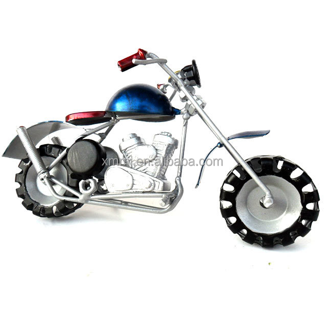 Handmade gift craft home tabletop decoration abstract metal motorcycle