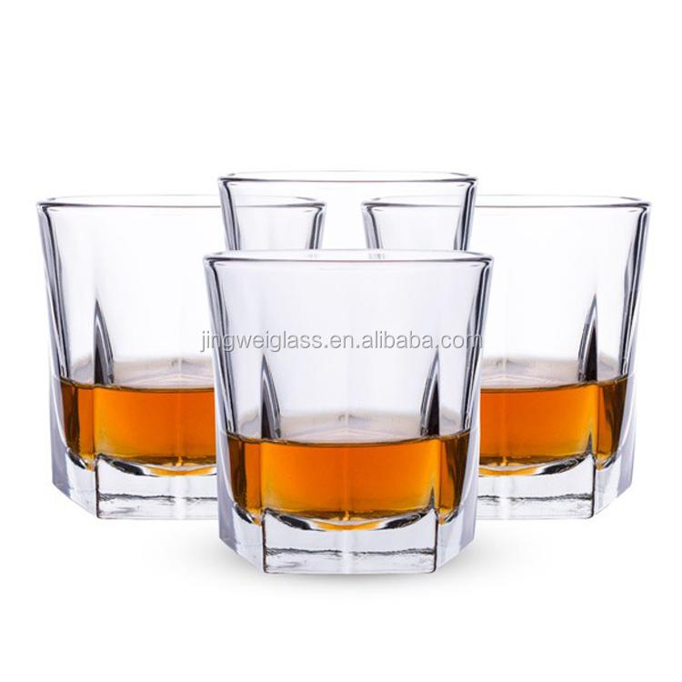 heavy base elegant barware rocks whiskey scotch glasses