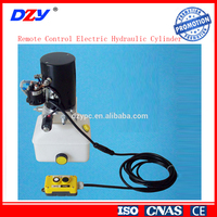 12V 21MPa Power Pack Cable Remote Control Electric Hydraulic Cylinder