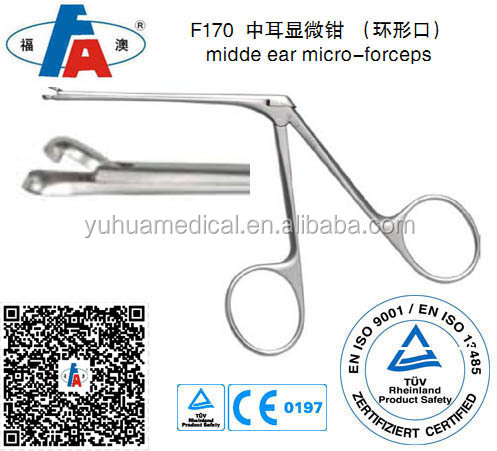 ENT surgical ear micro forceps, Ear instrument