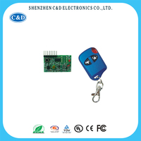2 button blue digital camera remote control and receiver module, wireless Mini camera controller