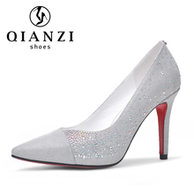 5191 Verified gold supplier bridal wedding silver high heel shoes