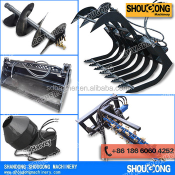 Attachments for skidsteer