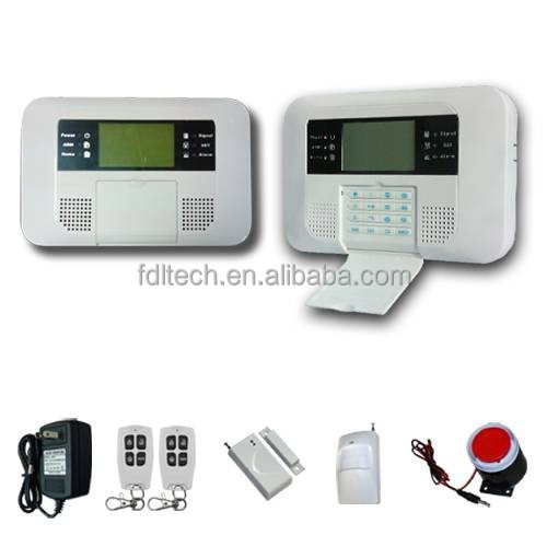home security systems with English/French/Italian/Czech/Polish/Russian/Spanish version ,Dual network alarm systemFDL-40B