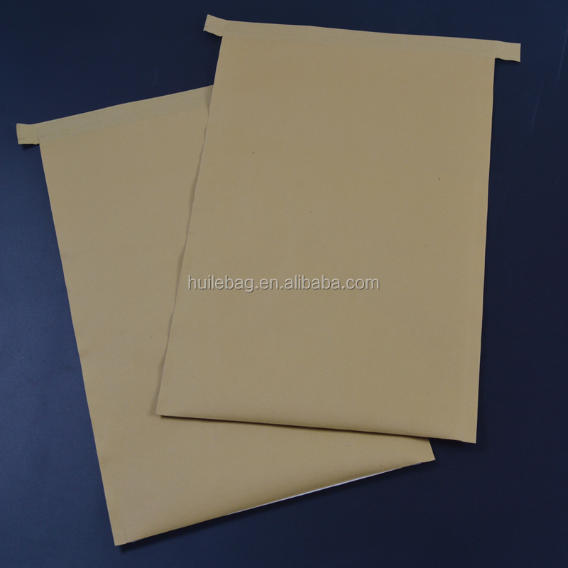 waterproof kraft paper pp woven bag for wheat ,rice ,powder