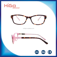 2016 Latest tops for children cheap new model acetate kids optical frame with high quality