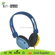 Hot sale change color wired headphone for young
