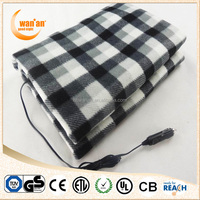 Portable 12v Travel Car Electric Heated Blanket With CE GS
