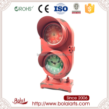 Low cost house decoration traffic light clock craft wire heart shape with BSIC certification