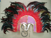 Coque Feather Headdress with Sequins Native American Indian Headdress