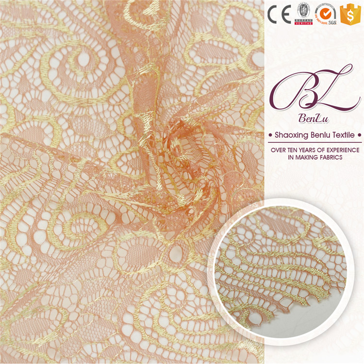 Trade assurance bridal embroidered tulle lace fabric