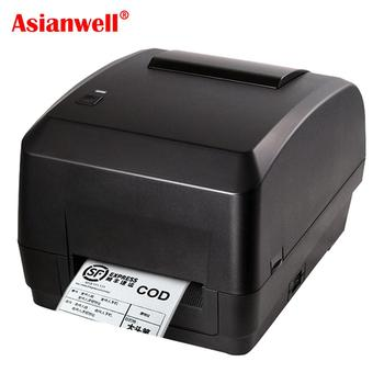 Fast speed 110mm barcode label printer receipt 4inch ribbon thermal transfer adhesive sticker printer