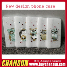 Owl design tpu cell phone case with storage for iphone 6