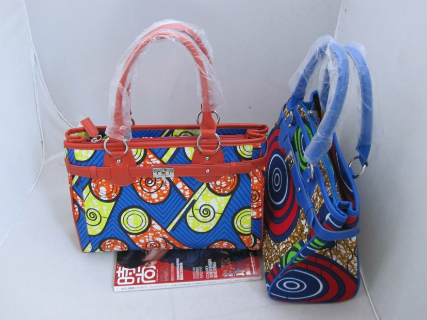 2017 new products African wax print fabric handbags for women