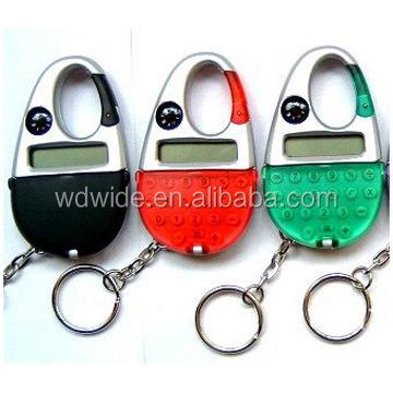 Mini funny pocket keychain calculator with compass