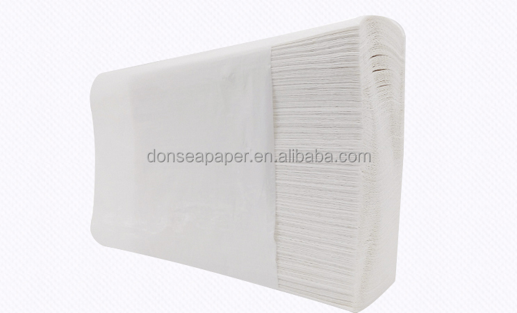Custom High Absorbent Mixed N-folded Hand Paper Towel with Logo from Direct Manufacturer
