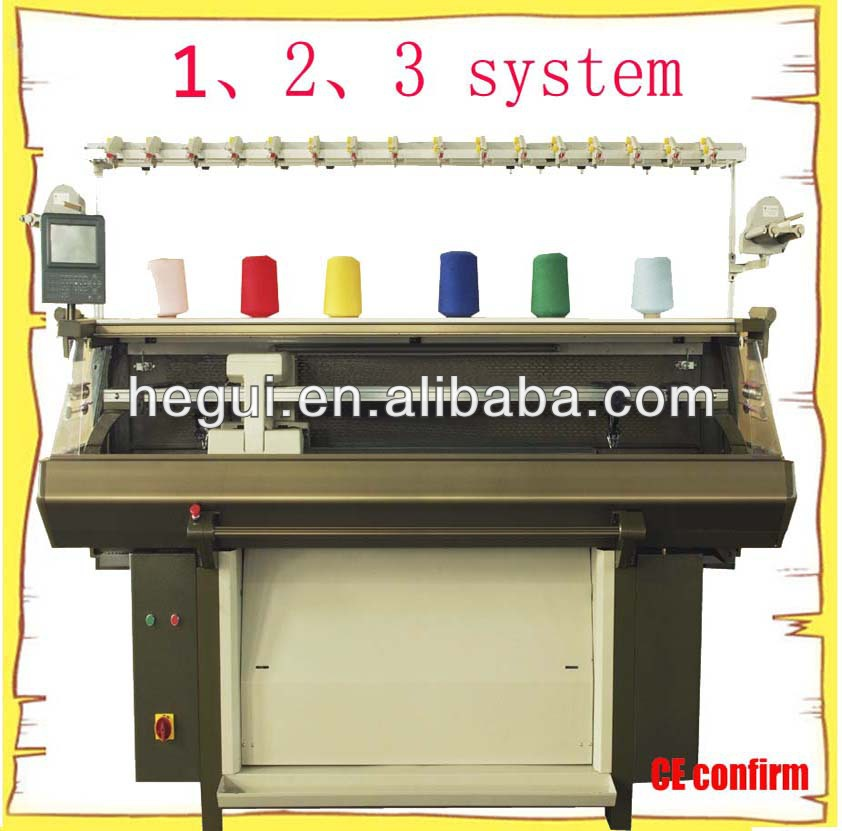 single system, 2 system, 3 system computer scarf knit machine