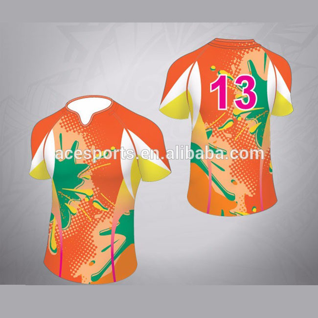 Ace sports customized short sleeves rugby football jerseys/wear/jumper/shirt sublimation print rugby jersey