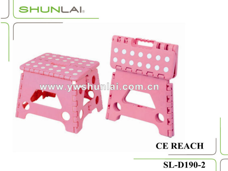 Hot sale outdoor necessary plastic folding stool for children color customized folding step stool with good/high quality