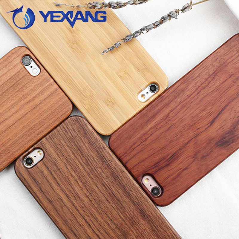 Handmade Natural 360 Full Protective Wood Case For Iphone 6 Bamboo Back Cover