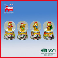 Lovely Bear 45mm Glass Water Globe with Blowing Snow for Home Garden Decoration