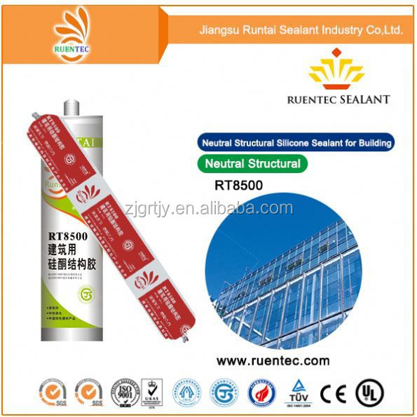 acid fast cure silicone sealant/adhesive favorable price for glazing aluminum window door glass factory supply
