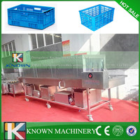 304 Stainless steel frequency conversion Crate Basket washer machine/Plastic pallet washer/ Plastic tray washer