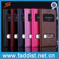 High quality smart leather dot view case for iPhone 6 window view smart case