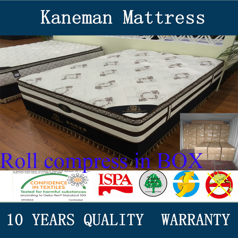 Roll compress box package pocket spring mattress