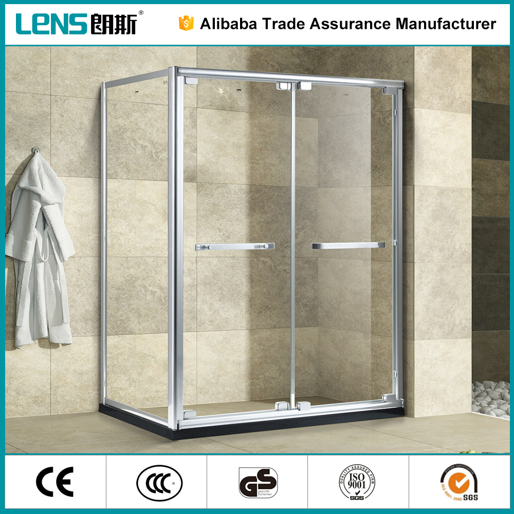 Finely Finished Well Polished 6063 Aluminium Alloy Sliding Door Shower Cabin Steam