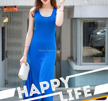 2017 New Fashion vest simple Women dress Women Sexy halter Long dress