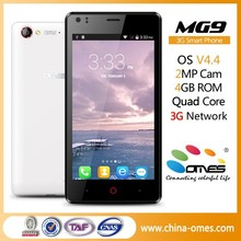 "Free download Software service OMES Mobile MG9 4.5 inch 4.5"" 3G WCDMA 850/1900/2100 Mhz Android china customized smart phone"