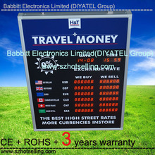 Alibaba express hot new product! Floor stand Red LED digital electroni / BTR-1561R currency exchange rate board display(BABBITT)