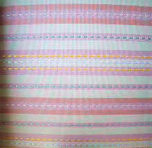 Thicken stripe pattern pvc coated polyester fabric 600d