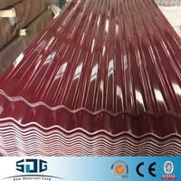 export to Ghana color coated/ppgi/ppgl /color galvanized zinc roof corrugated steel sheet