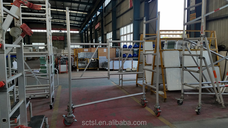 Construction Aluminum Folding Scaffolding tower with wheel