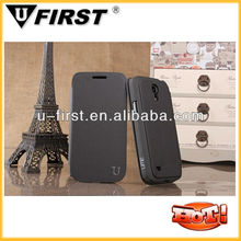 Leather Filp Case For Galaxy s4 i9190/for samsung s4 mini case