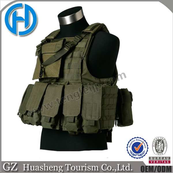 army green military tactical assault vest
