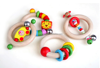 Baby Wooden Ring Toy, Ring Bell Toy